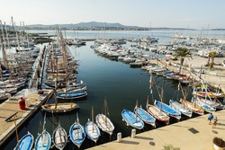 The marina in Sanary sur Mer