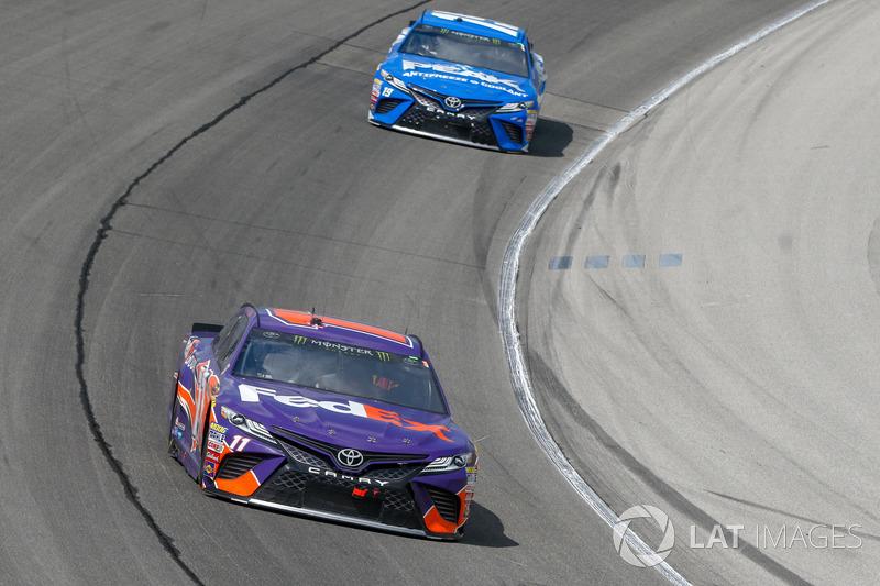 Denny Hamlin, Joe Gibbs Racing, Toyota Camry FedEx Ground, Daniel Suarez, Joe Gibbs Racing, Toyota Camry PEAK