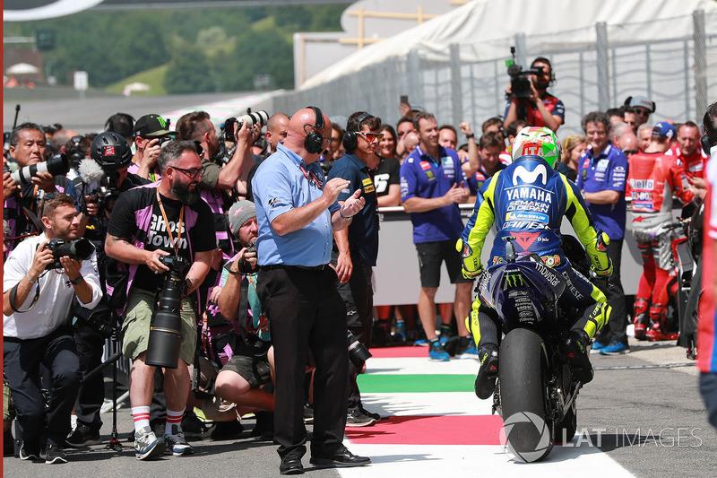 Il poleman Valentino Rossi, Yamaha Factory Racing