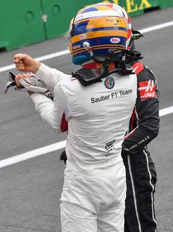 Marcus Ericsson, Sauber, parc ferme