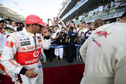 Lewis Hamilton, McLaren, in the drivers parade