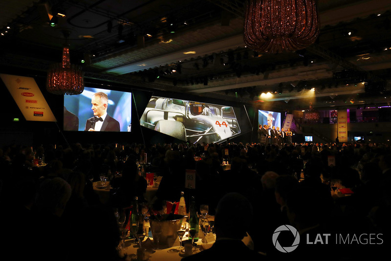The Mercedes team receive the Racing Car of the Year Award