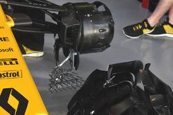 Renault RS17: Messgerät am vorderen Bremskanal