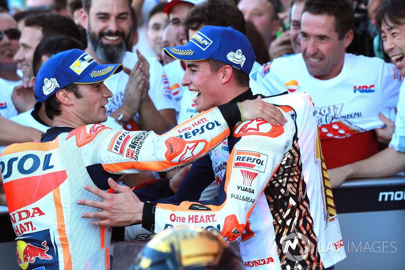 Dani Pedrosa, Repsol Honda Team, Marc Marquez, Repsol Honda Team en Parc Ferme