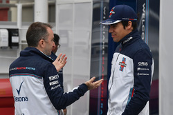 Lance Stroll, Williams and Paddy Lowe, Williams Shareholder and Technical Director