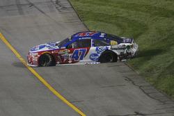 Crash d'A.J. Allmendinger, JTG Daugherty Racing Chevrolet