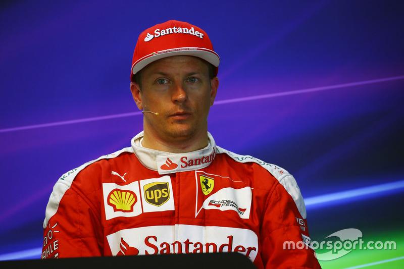 Kimi Raikkonen, Ferrari nella conferenza stampa FIA