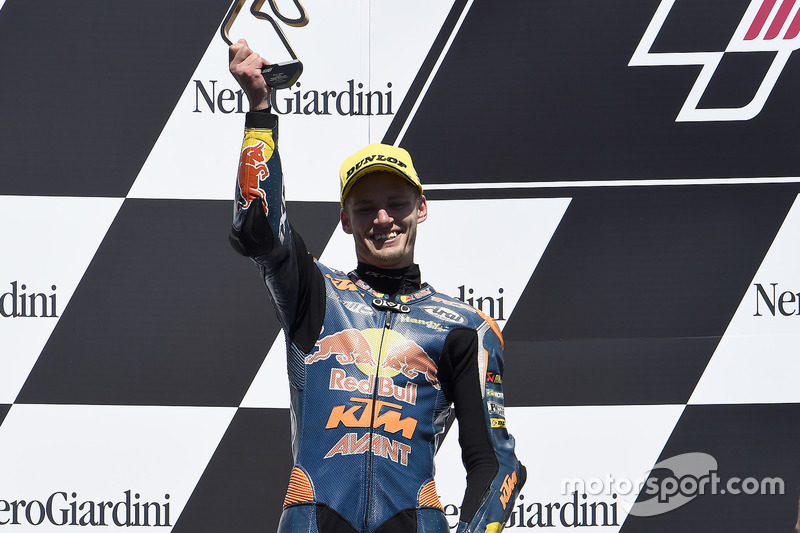 Il secondo classificato Brad Binder, Red Bull KTM Ajo