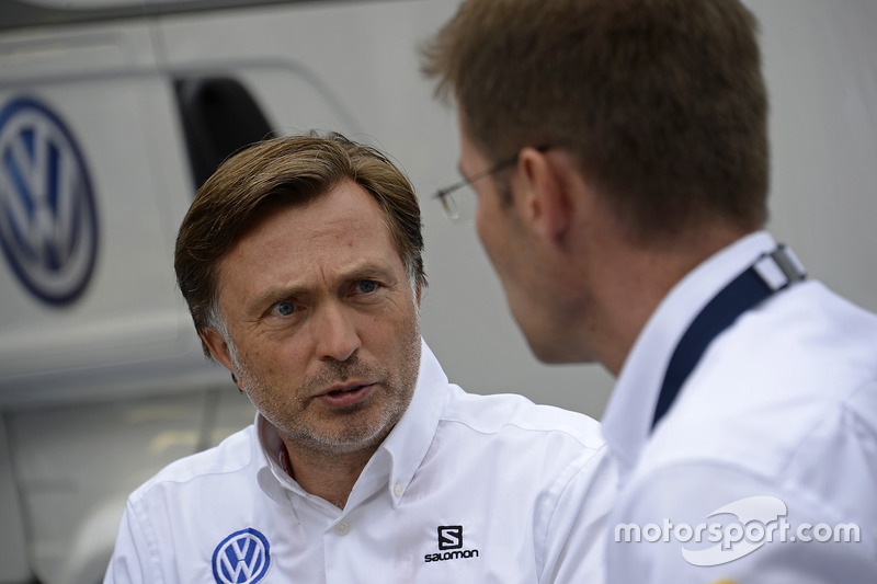 Jost Capito, Volkswagen Motorsport Director, Dr. Frank Welsch, Volkswagen Board for development