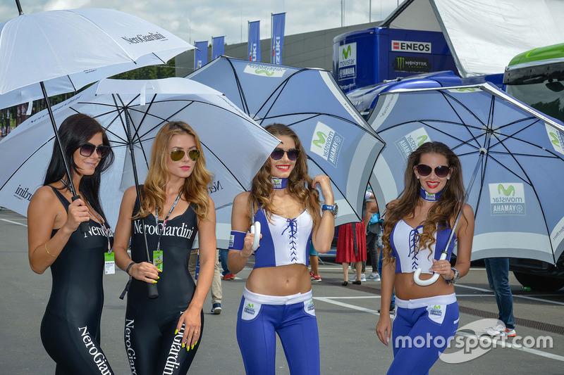 Lovely girls in the paddock