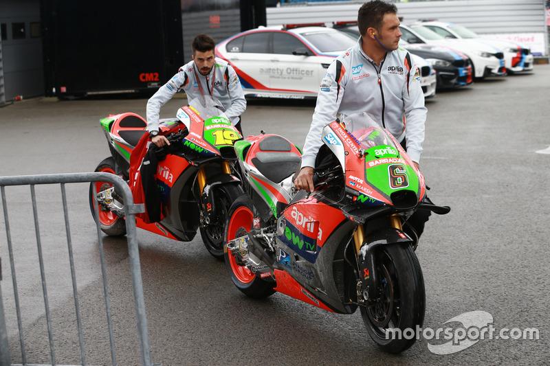 Stefan Bradl, Aprilia Racing Team Gresini ve Alvaro Bautista, Aprilia Racing Team Gresini
