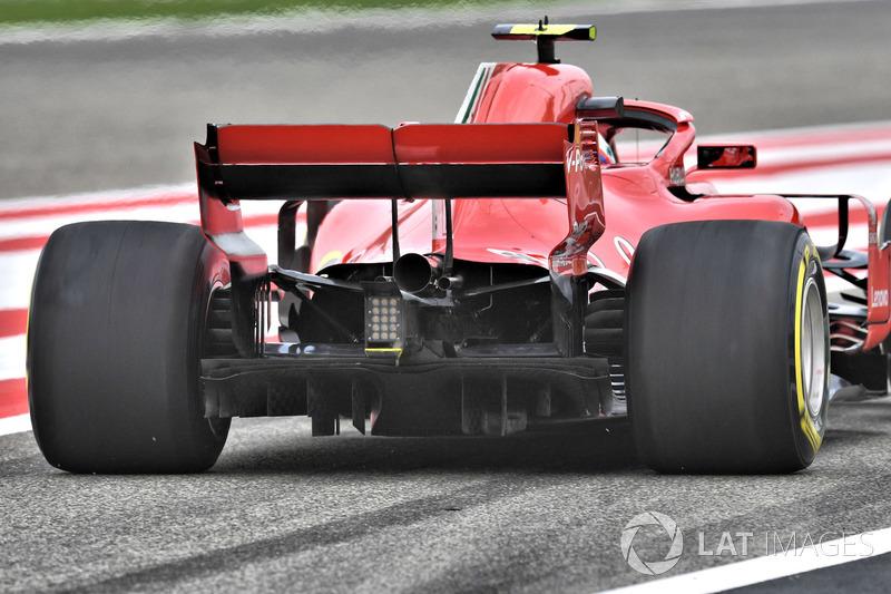 Kimi Raikkonen, Ferrari SF71H rear detail