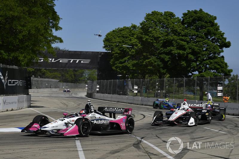 Marco Andretti, Herta - Andretti Autosport Honda, Josef Newgarden, Team Penske Chevrolet