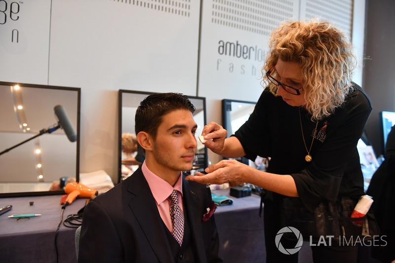 Esteban Ocon, Force India F1 in make up