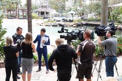 Jason Bright, Prodrive Racing Australia Ford with media