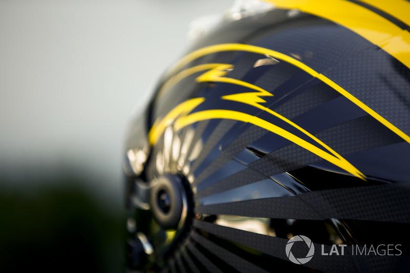 The helmet of Nico Hulkenberg, Renault Sport F1 Team