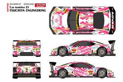 """昨年までとはイメージを一新。ピンクの""""Hoppy""""カラーリングとなった25号車"""