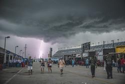 Lightning strikes near Daytona International Speedway