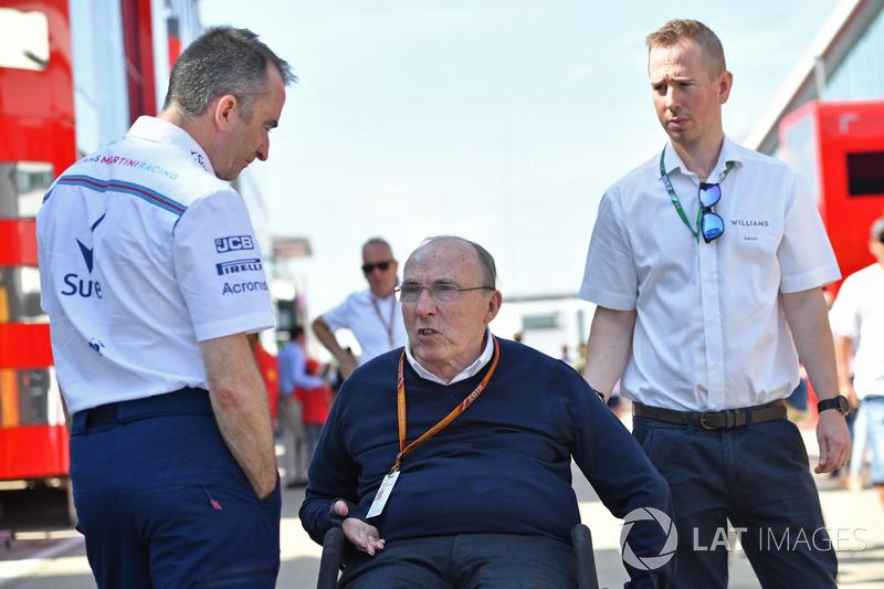Paddy Lowe, actionnaire et directeur technique de Williams, et Frank Williams, propriétaire de Williams