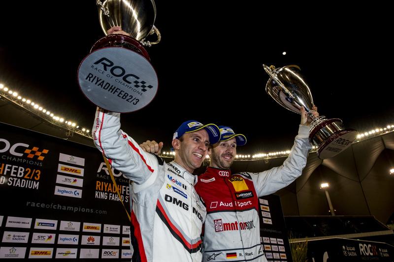 René Rast y Timo Bernhard en el podio