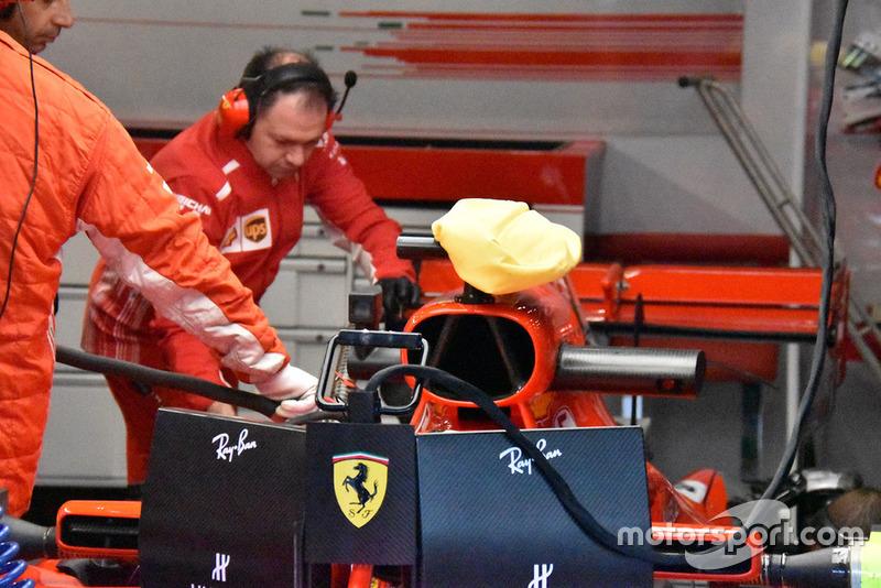 Kantong pendingin di kamera mobil Ferrari SF71H