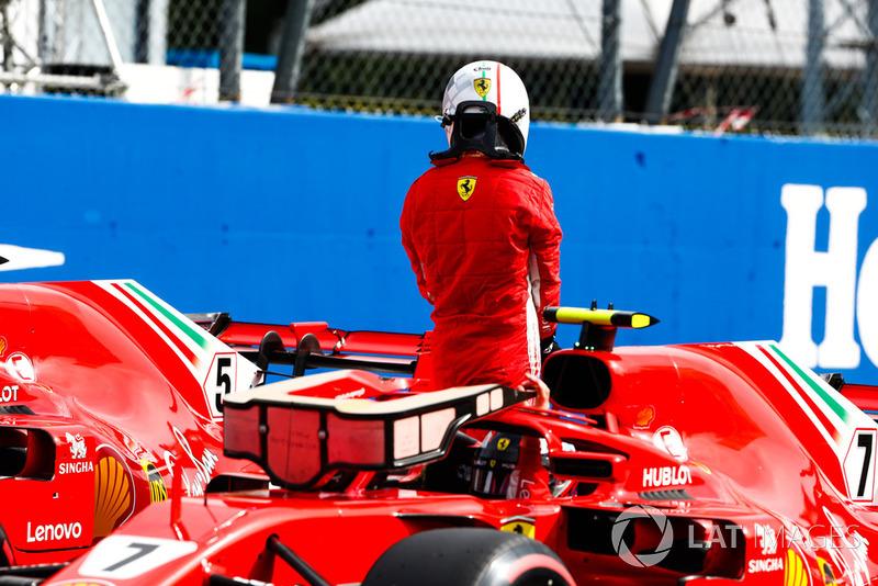 Pole man Kimi Raikkonen, Ferrari
