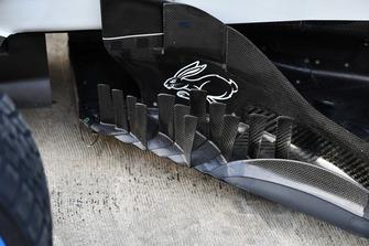 Haas F1 Team VF-18 barge board detail