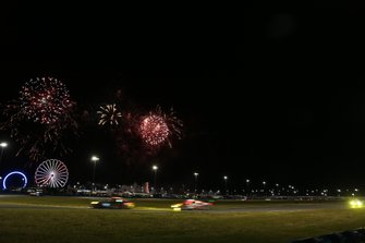 Race action and fireworks
