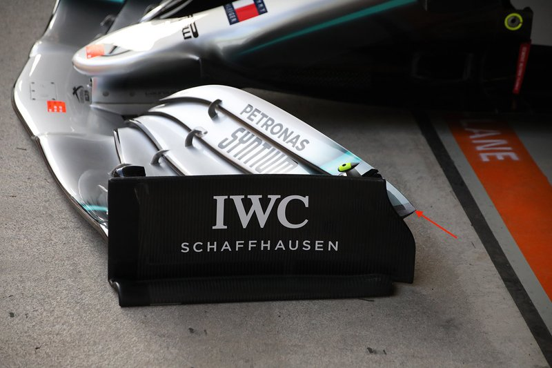 Mercedes AMG F1 W10 previous front wing design
