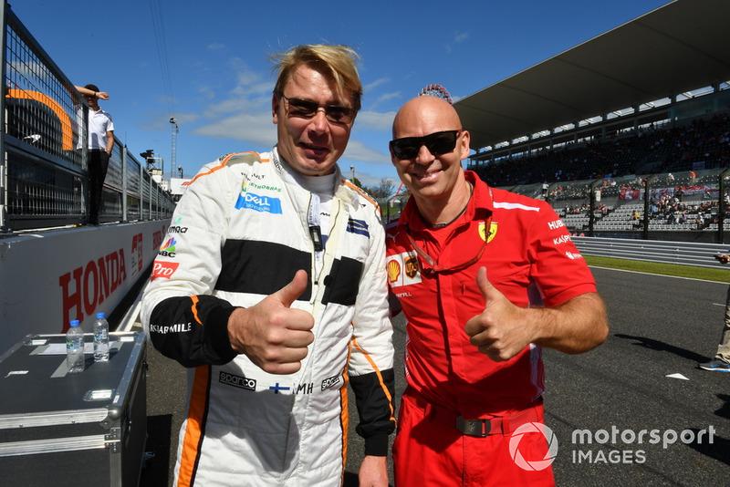 MIka Hakkinen y Mark Arnall Leyendas F1 30 aniversario