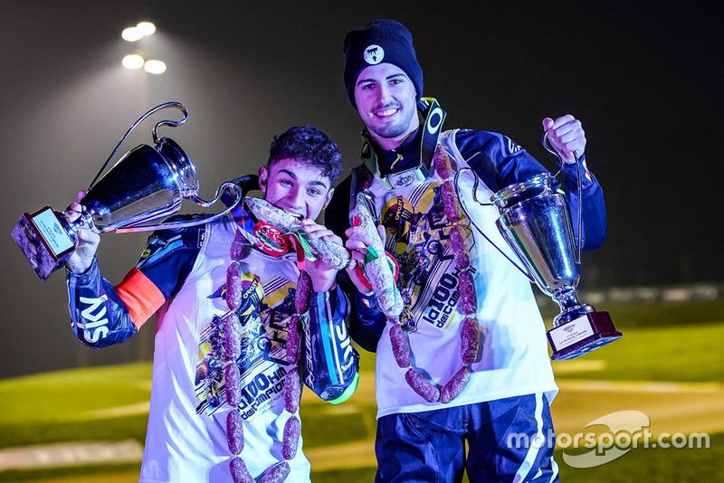 Dennis Foggia e Federico Fuligni celebram pódio