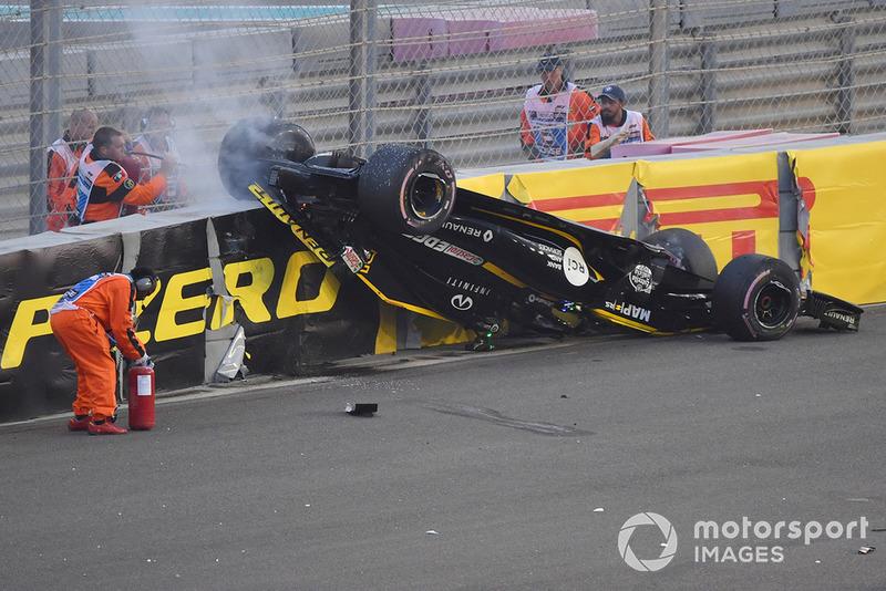Choque de Nico Hulkenberg, Renault Sport F1 Team R.S. 18