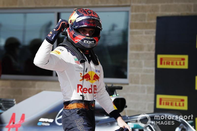Tweede plaats Max Verstappen, Red Bull Racing RB14