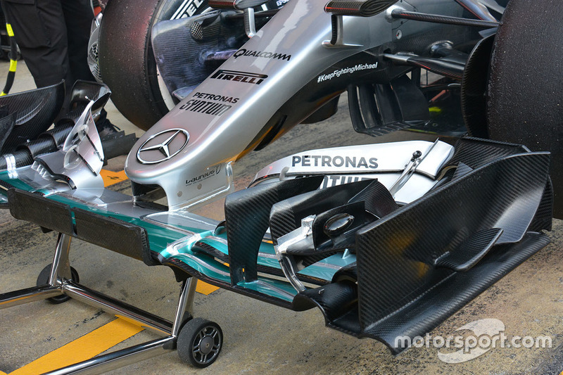 Detail Frontnase, Mercedes AMG F1 Team W07