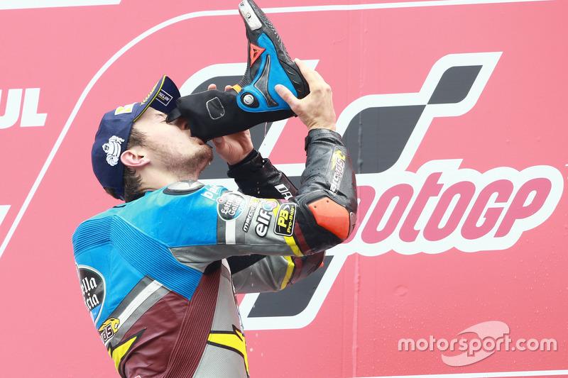 Подіум: переможець гонки Джек Міллер, Marc VDS Racing Honda