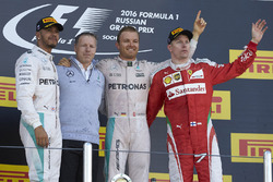 Podium: winner Nico Rosberg, Mercedes AMG F1 Team, second place Lewis Hamilton, Mercedes AMG F1 Team, third place Kimi Raikkonen, Ferrari