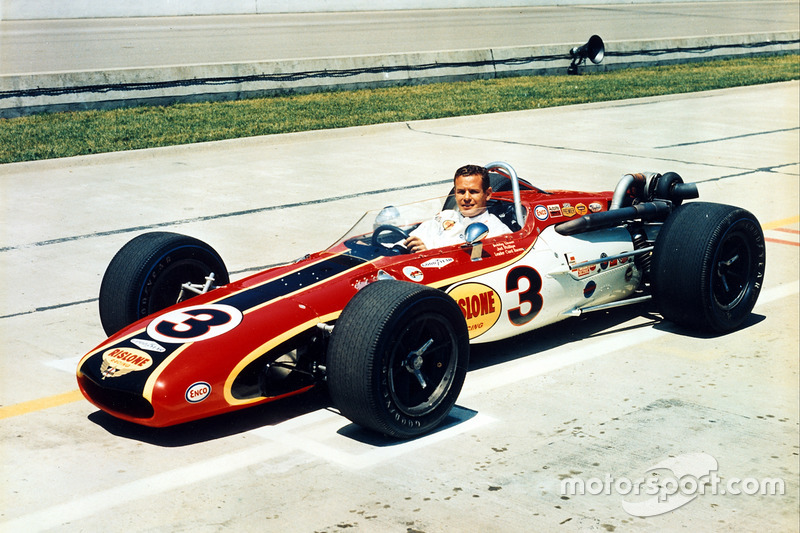 Bobby Unser in his 1968 Indy 500 winning Eagle.