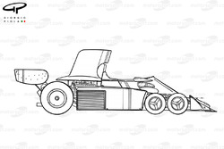 Tyrrell P34 1976 года: вид сбоку