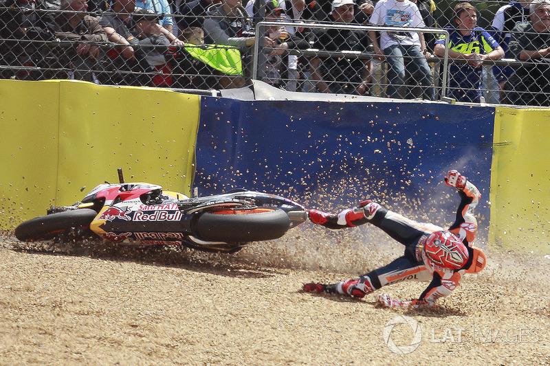 Marc Márquez, Repsol Honda Team, caída