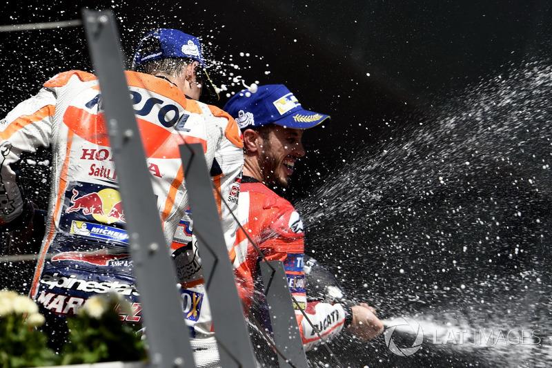 Podium: Marc Márquez, Repsol Honda Team, Andrea Dovizioso, Ducati Team