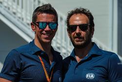 Marcin Budkowski, responsabile tecnico FIA e Matteo Bonciani Responsabile comunicazione FIA