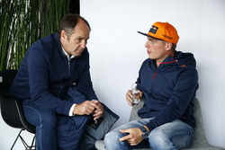 Gerhard Berger, ITR Chairman and Max Verstappen, Red Bull Racing