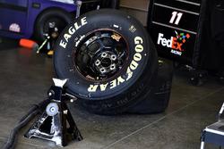 Joe Gibbs Racing garage view