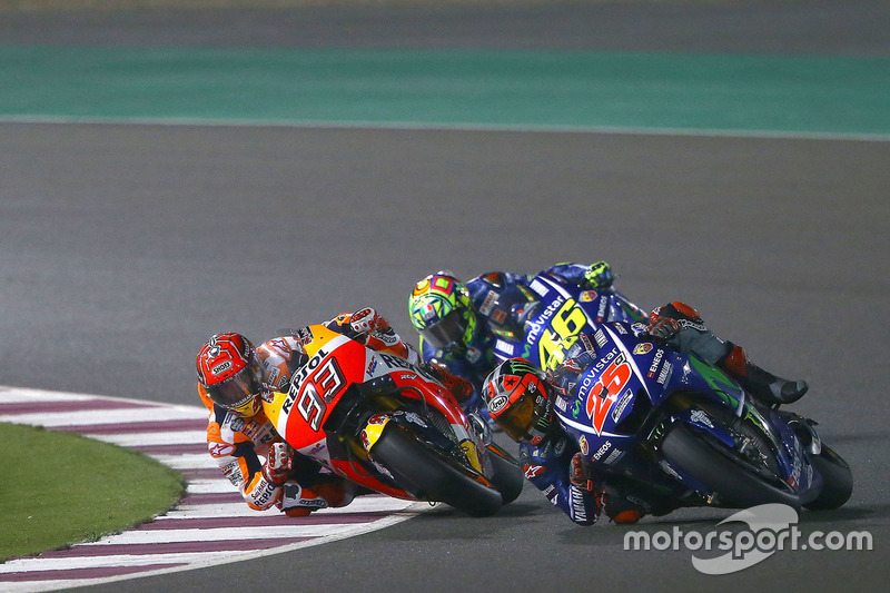 Maverick Viñales, Yamaha Factory Racing, Marc Marquez, Repsol Honda Team, Valentino Rossi, Yamaha Fa