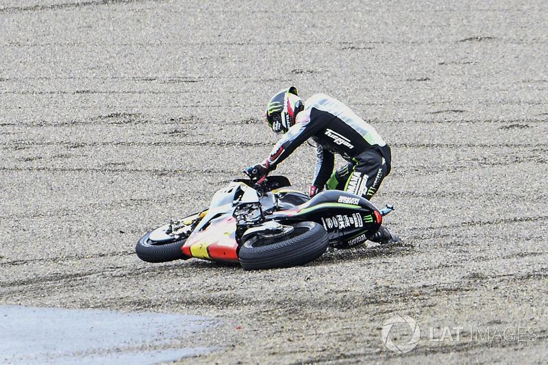 Johann Zarco, Monster Yamaha Tech 3, caída