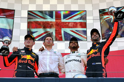 Podium: race winner Lewis Hamilton, Mercedes AMG F1, second place Max Verstappen, Red Bull Racing, third place Daniel Ricciardo, Red Bull Racing, James Vowles, Mercedes AMG F1 Chief Strategist
