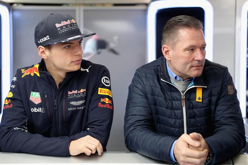 Max Verstappen, Red Bull Racing, mit Jos Verstappen