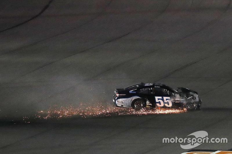 Crash: Reed Sorenson, Premium Motorsports, Toyota