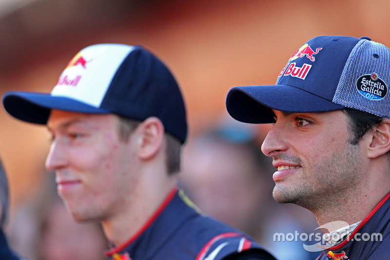 Carlos Sainz Jr. und Daniil Kvyat, Scuderia Toro Rosso