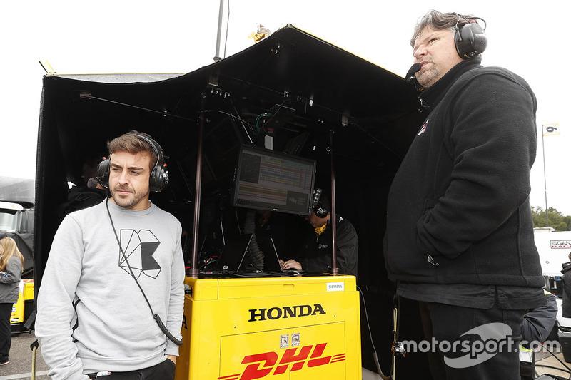 Fernando Alonso bersama Michael Andretti